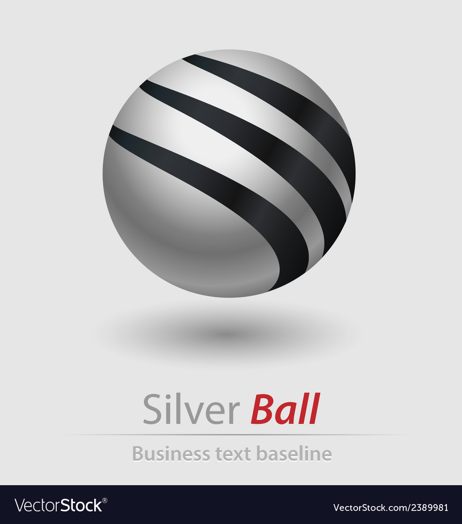 Silver ball elegant icon vector | Price: 1 Credit (USD $1)