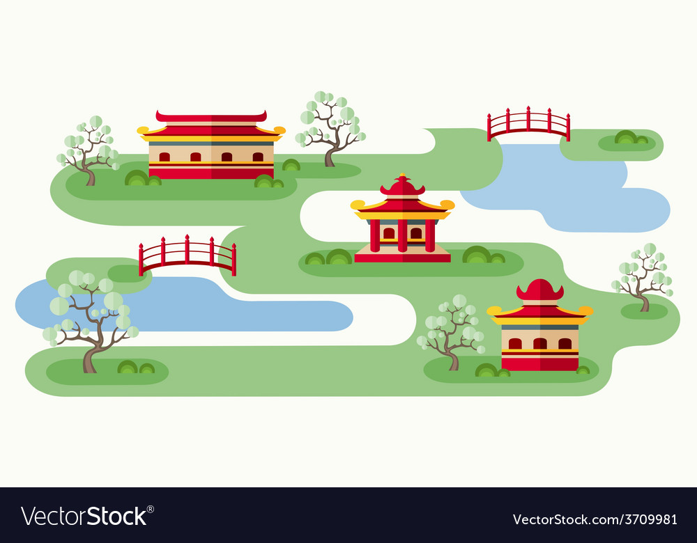 Somewhere in japan vector | Price: 1 Credit (USD $1)
