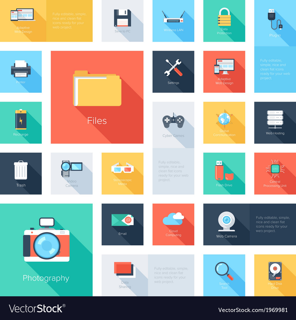 Technology icons vector | Price: 1 Credit (USD $1)
