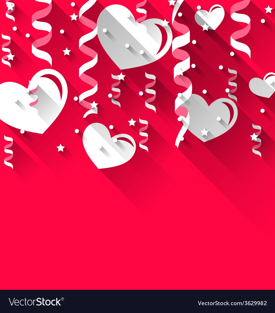 Background for valentines day with paper hearts vector | Price: 1 Credit (USD $1)