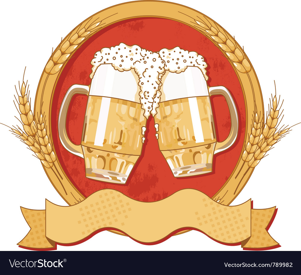 Beer label design vector | Price: 3 Credit (USD $3)