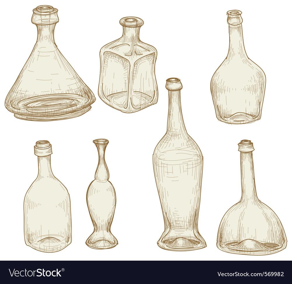 Bottles drawings vector   Price: 1 Credit (USD $1)
