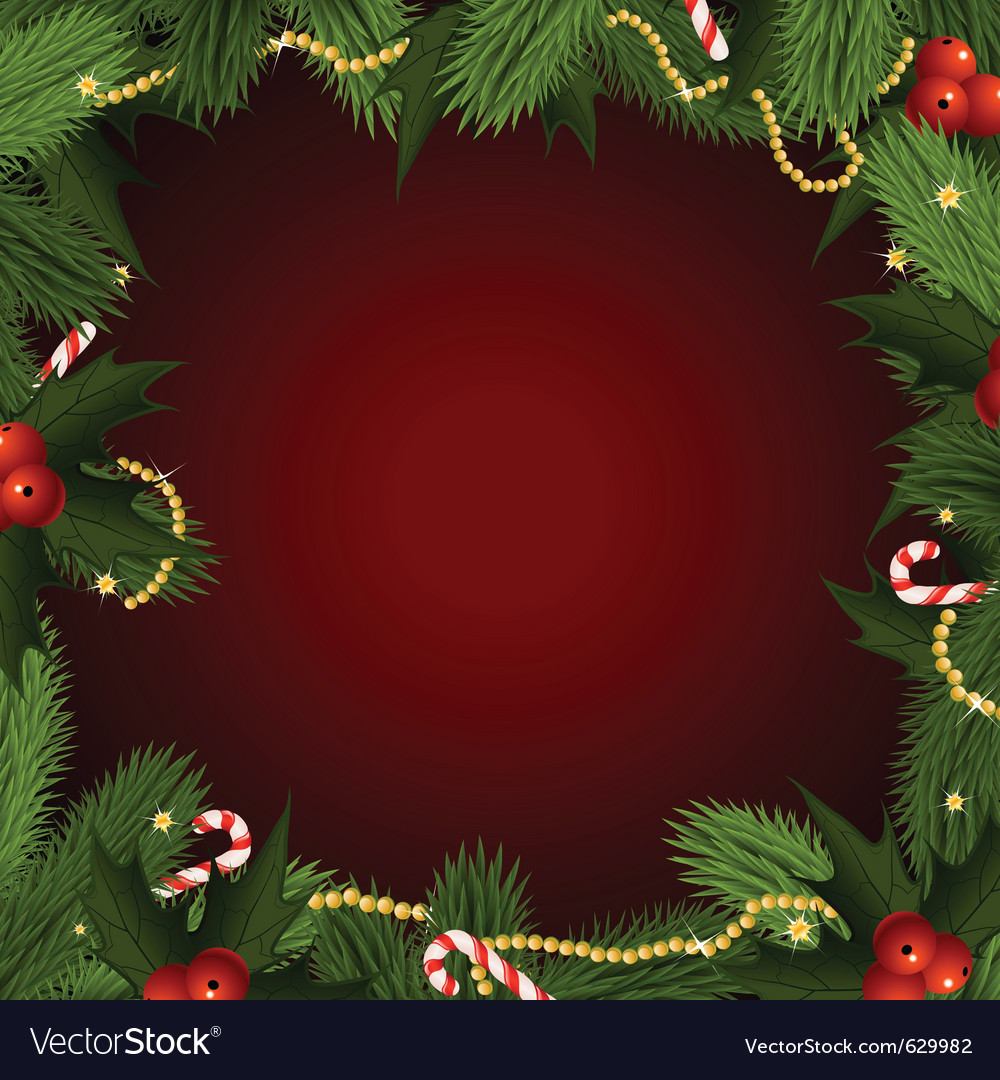 Christmas frame with fir-tree vector | Price: 3 Credit (USD $3)