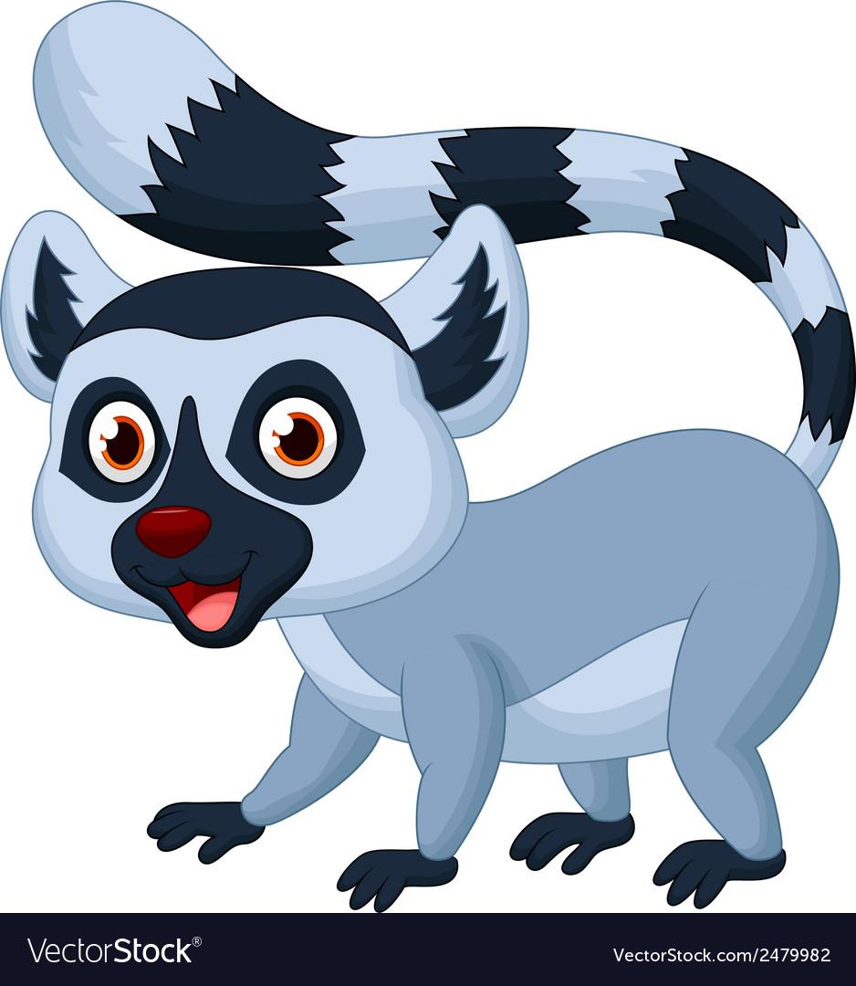 Cute lemur cartoon vector   Price: 1 Credit (USD $1)
