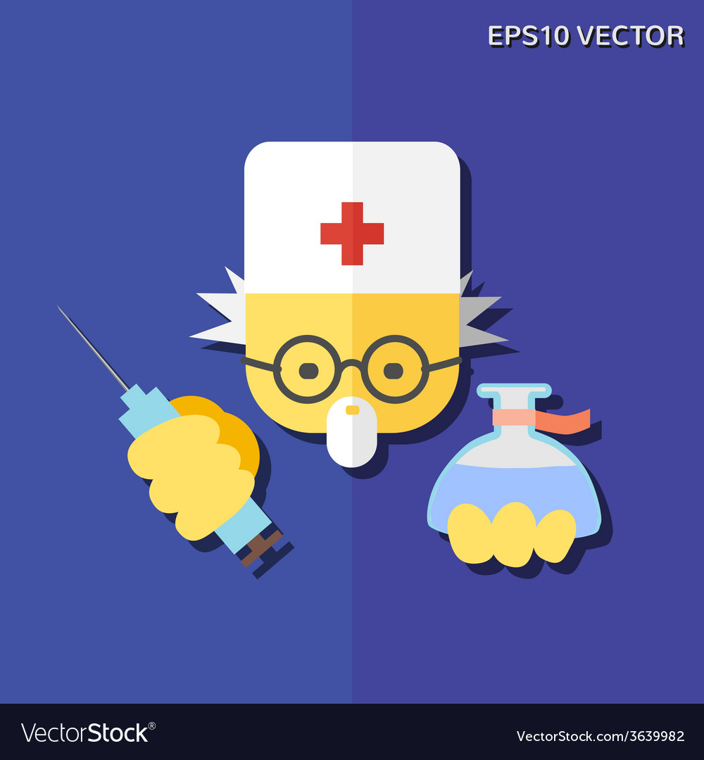 Doctor flat icon vector | Price: 1 Credit (USD $1)