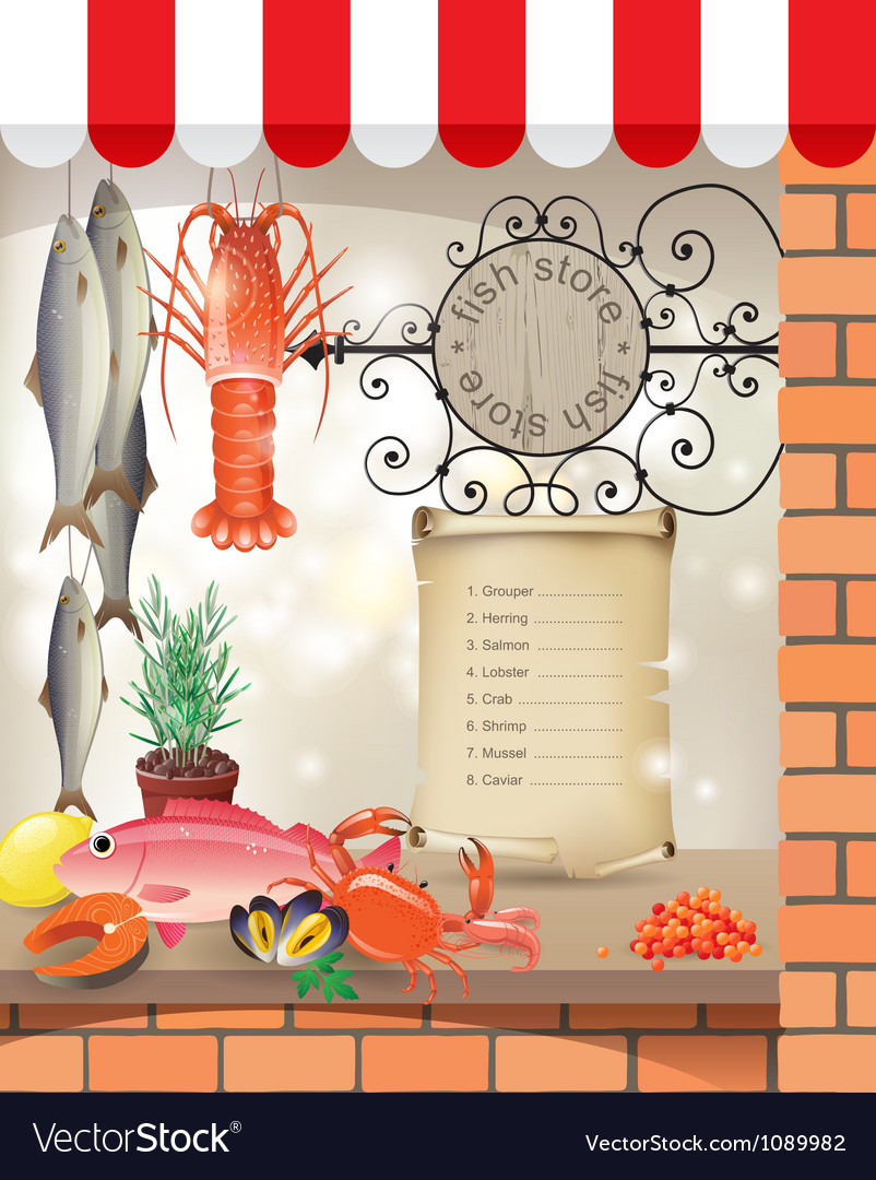 Fish store vector | Price: 5 Credit (USD $5)