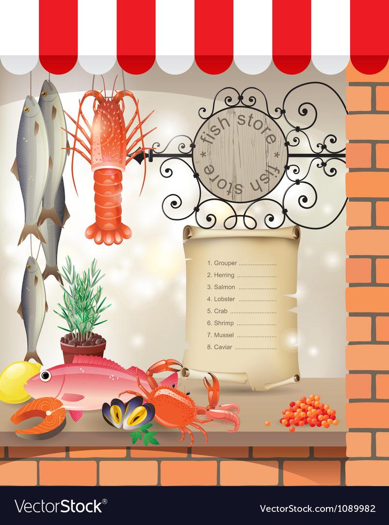 Fish store vector | Price: 5 Credit (USD $5)