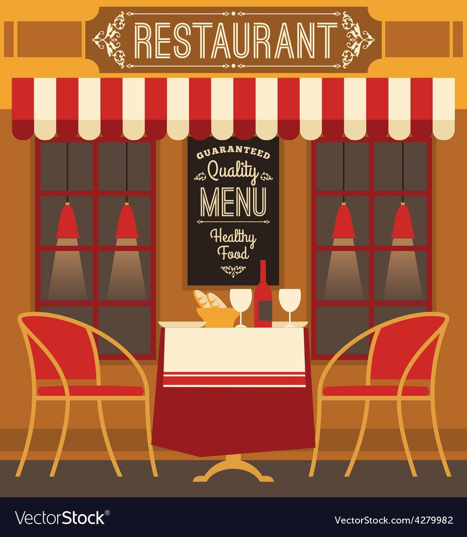Modern flat design of restaurant vector | Price: 1 Credit (USD $1)