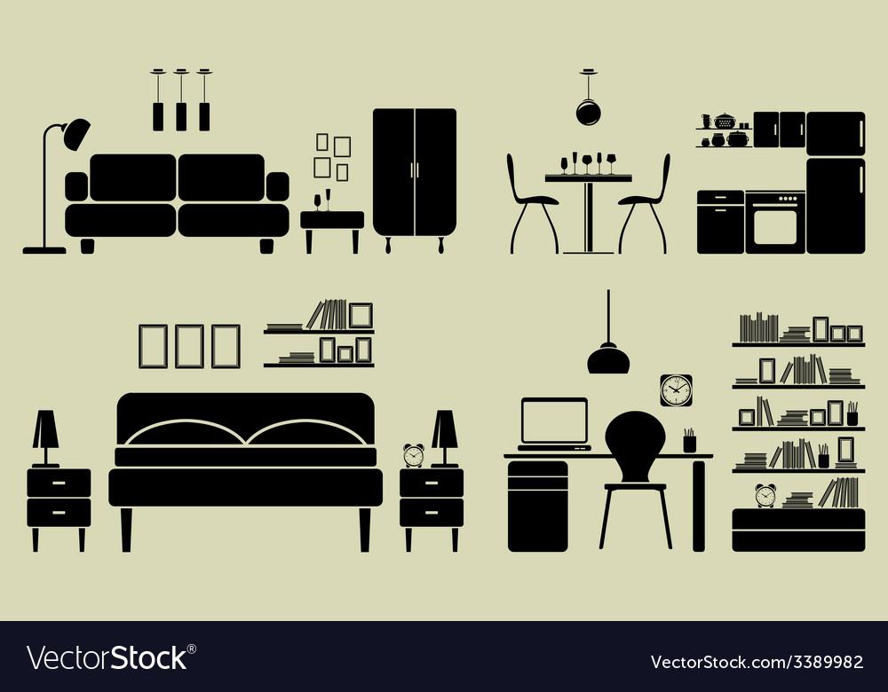 Namestaj sobe3 vector | Price: 1 Credit (USD $1)