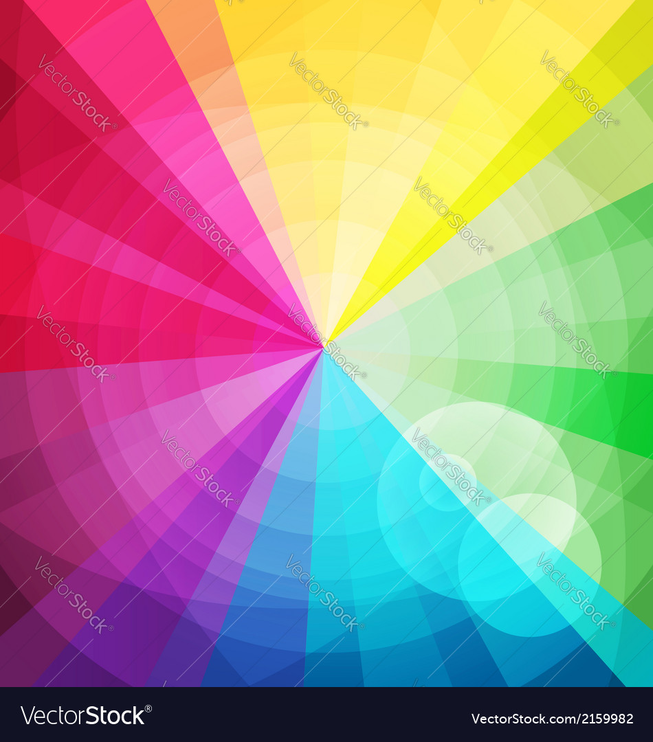 Rainbow bright background with rays2 vector | Price: 1 Credit (USD $1)