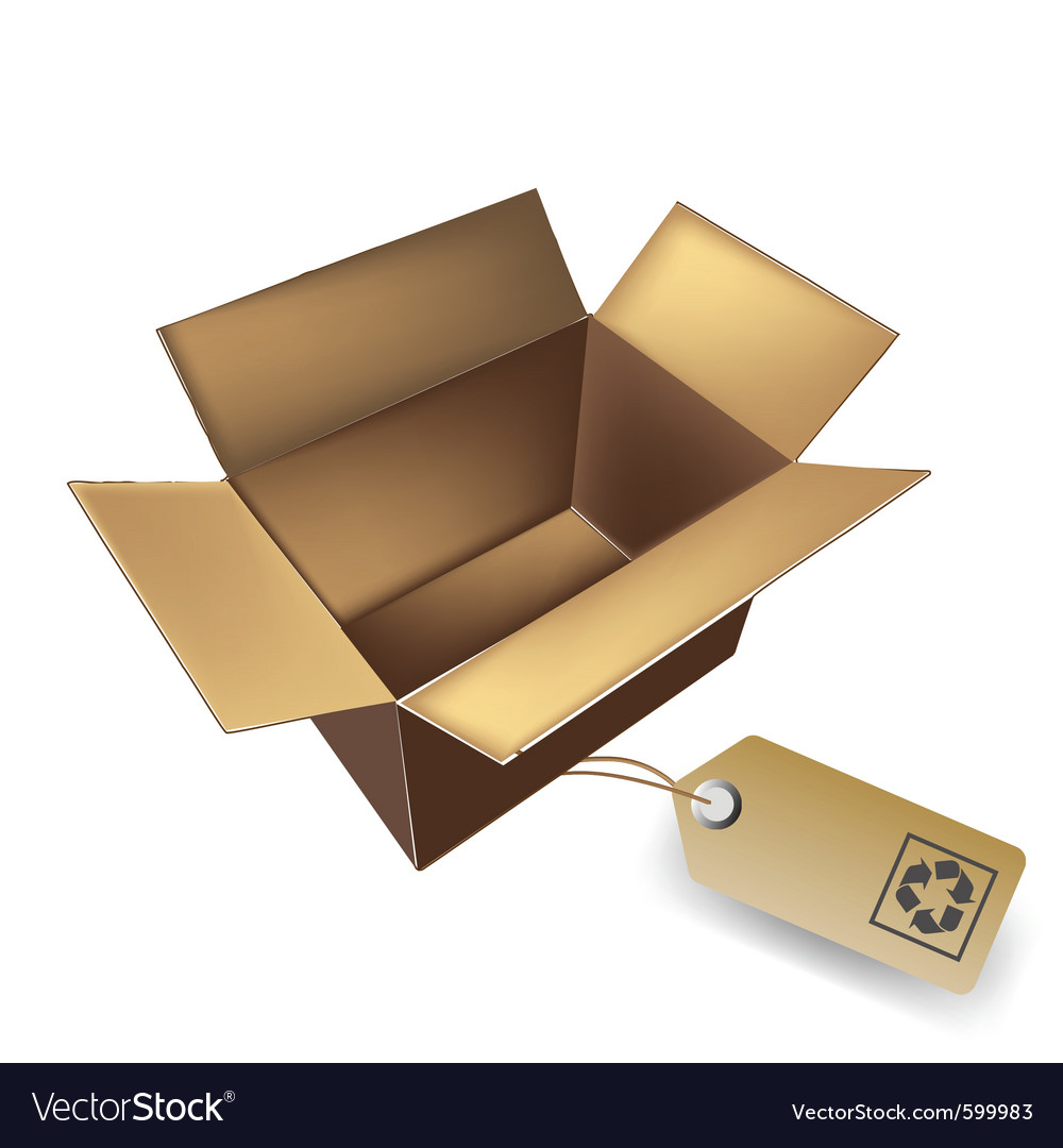 Box with eco tag vector | Price: 1 Credit (USD $1)
