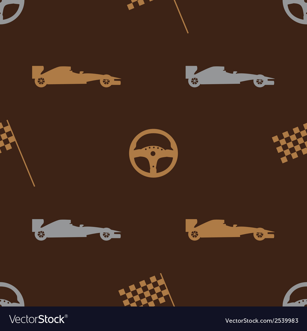 Brown automotive icon pattern eps10 vector | Price: 1 Credit (USD $1)
