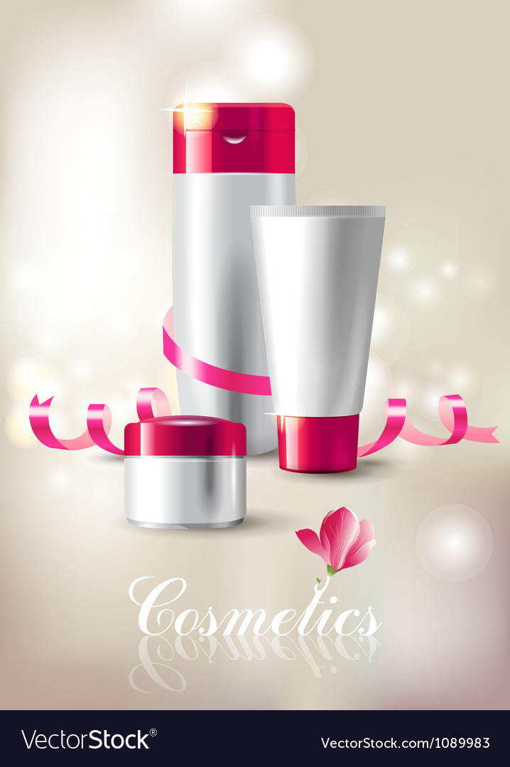 Cosmetics background vector | Price: 3 Credit (USD $3)