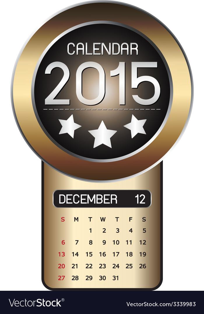 December calendar 2015 fiber background vector | Price: 1 Credit (USD $1)