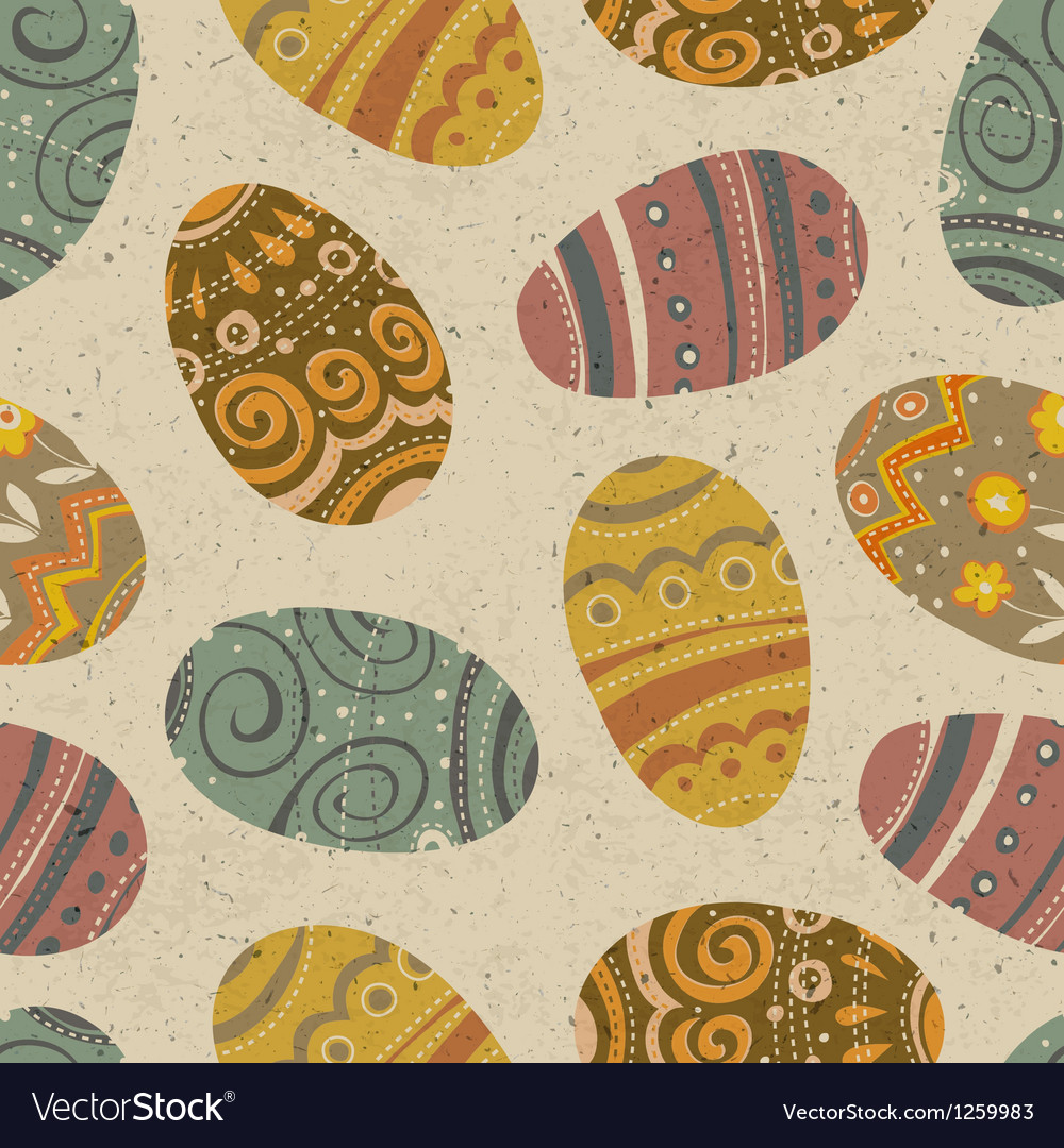 Easter seamless pattern vector   Price: 1 Credit (USD $1)