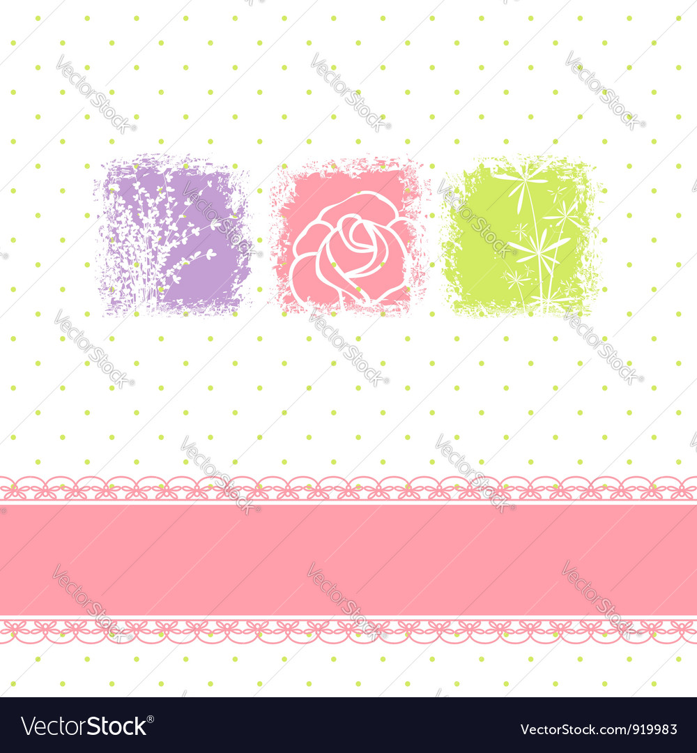 Greeting card with rose flower vector | Price: 1 Credit (USD $1)