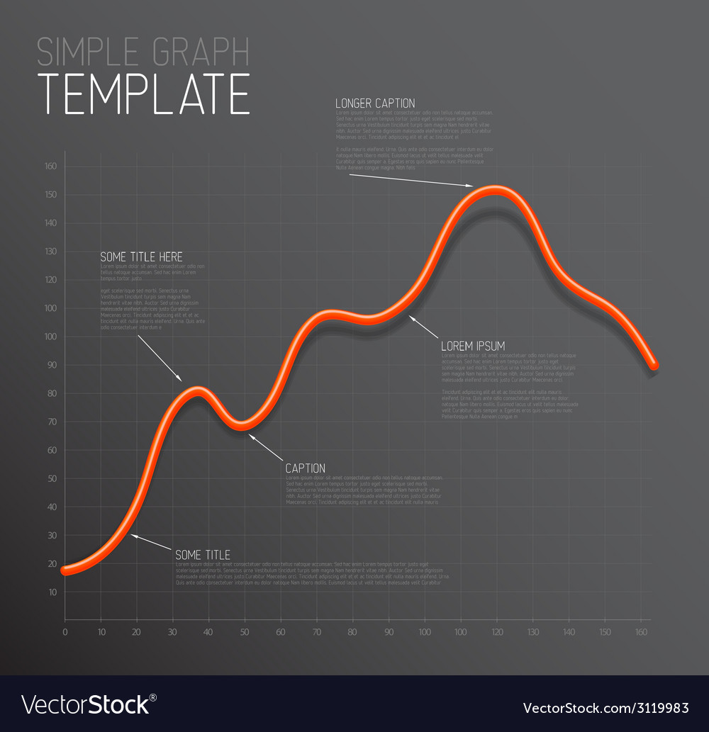 Infographic line graph template vector | Price: 1 Credit (USD $1)
