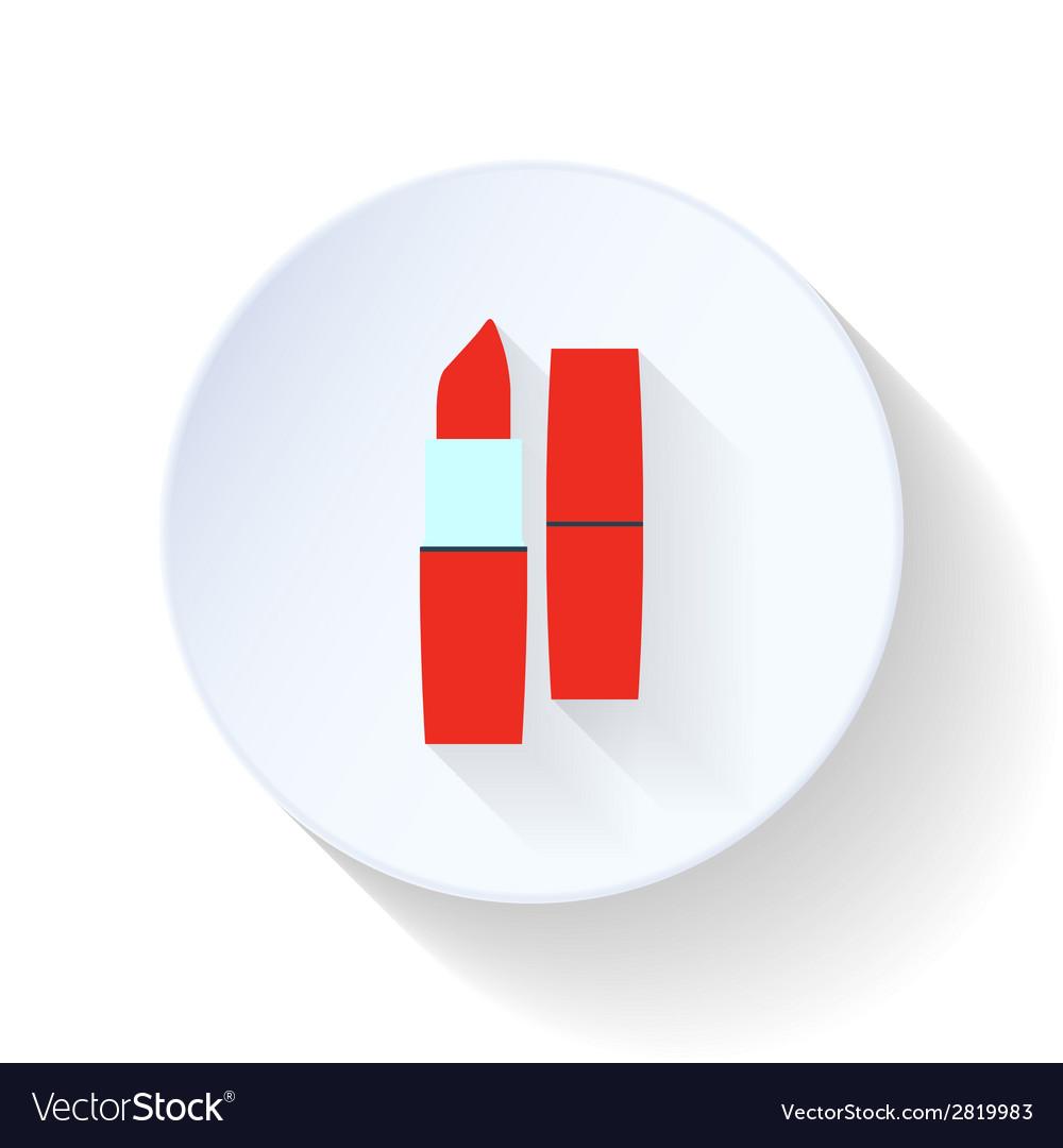 Lipstick flat icon vector