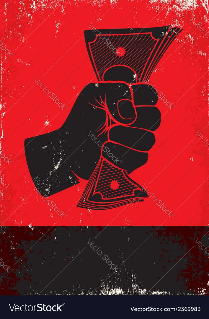 Money red poster vector | Price: 1 Credit (USD $1)