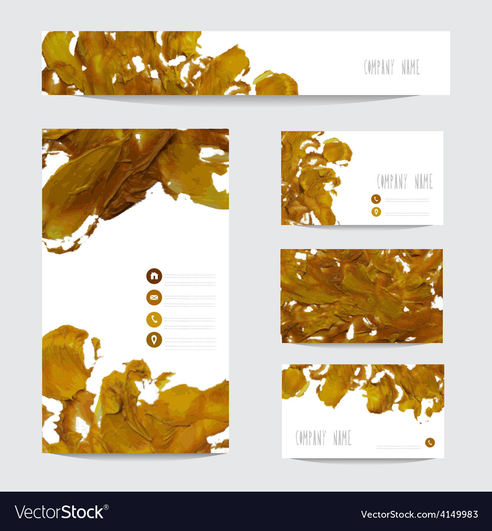 Oil painted business cards vector   Price: 1 Credit (USD $1)