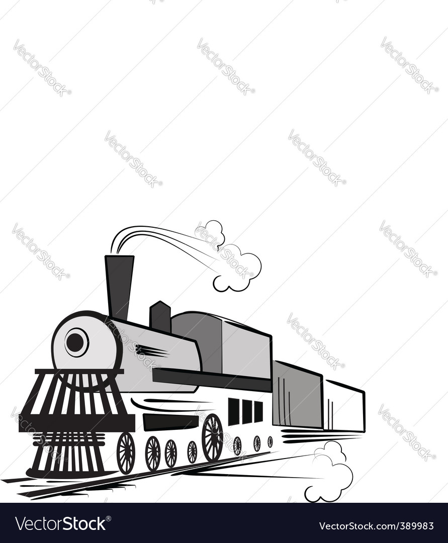 Train cartoon vector | Price: 1 Credit (USD $1)