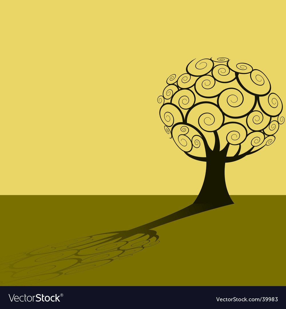 Tree shadow background vector | Price: 1 Credit (USD $1)