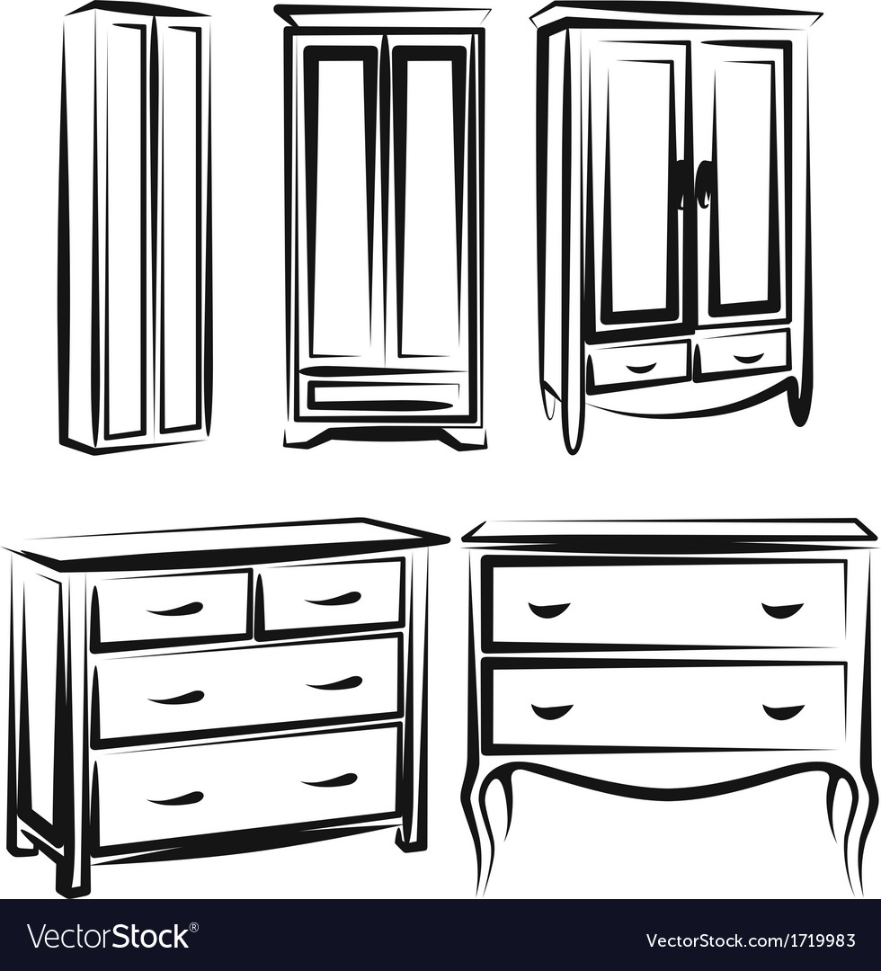 Wardrobe vector | Price: 1 Credit (USD $1)