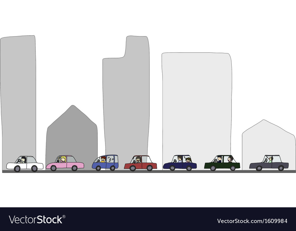Activities during traffic jam vector | Price: 1 Credit (USD $1)