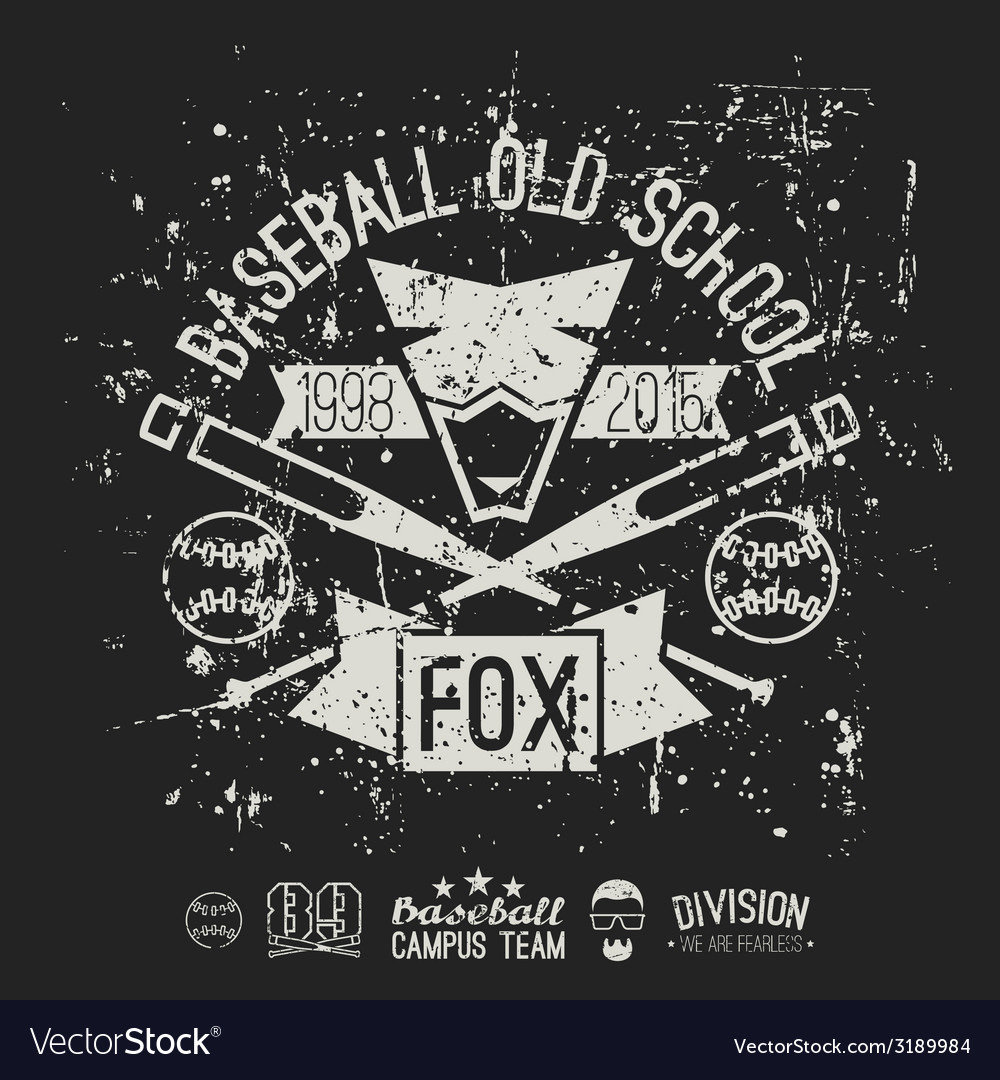 Emblem baseball team vector | Price: 1 Credit (USD $1)