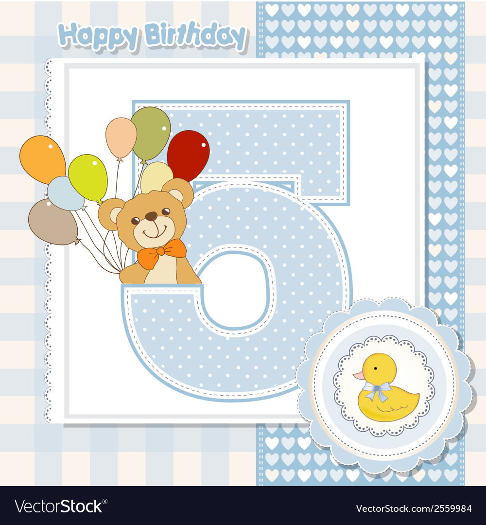 Fifth anniversary of the birthday vector | Price: 1 Credit (USD $1)