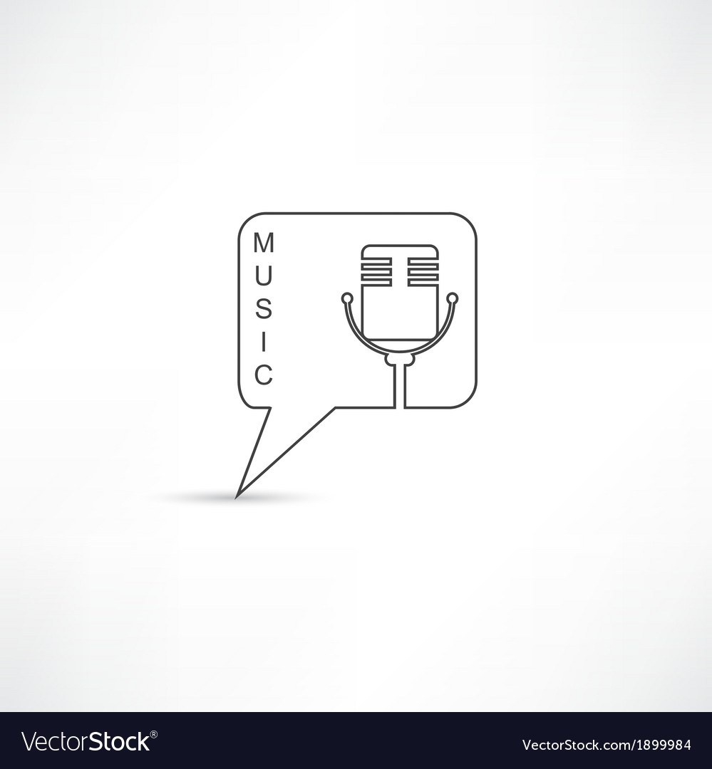 Mic into speech bubble vector | Price: 1 Credit (USD $1)