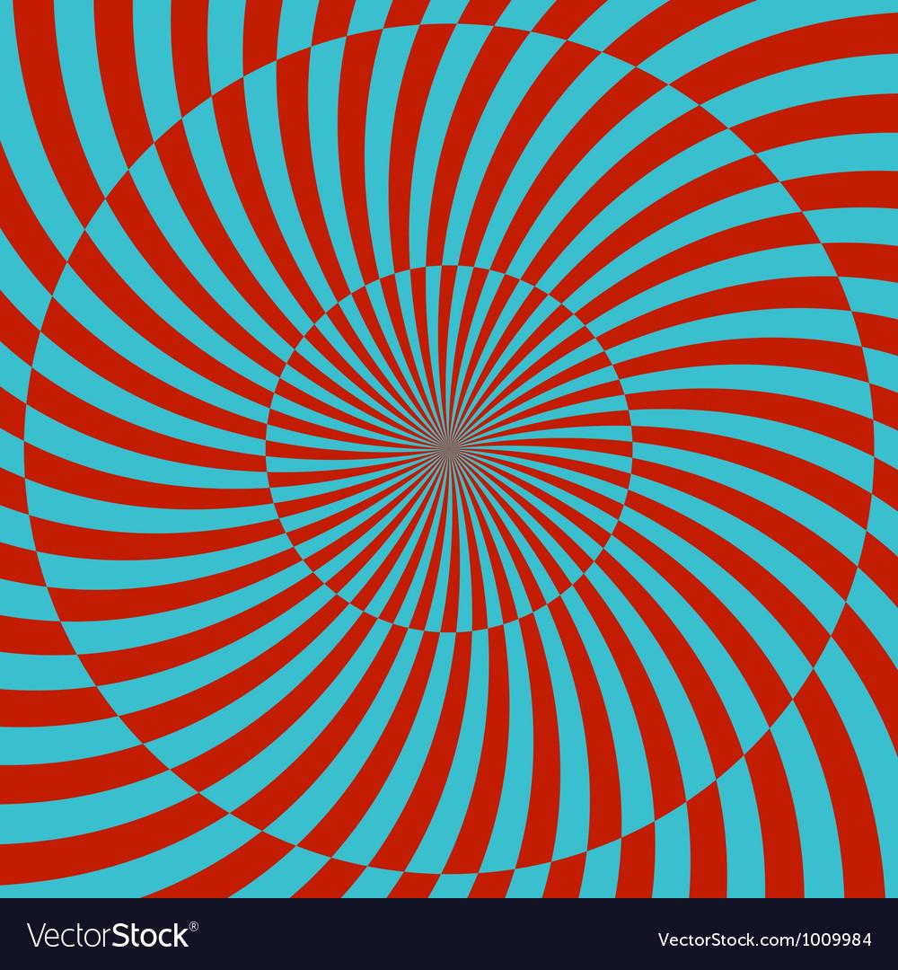 Retro style hypnotic background vector   Price: 1 Credit (USD $1)