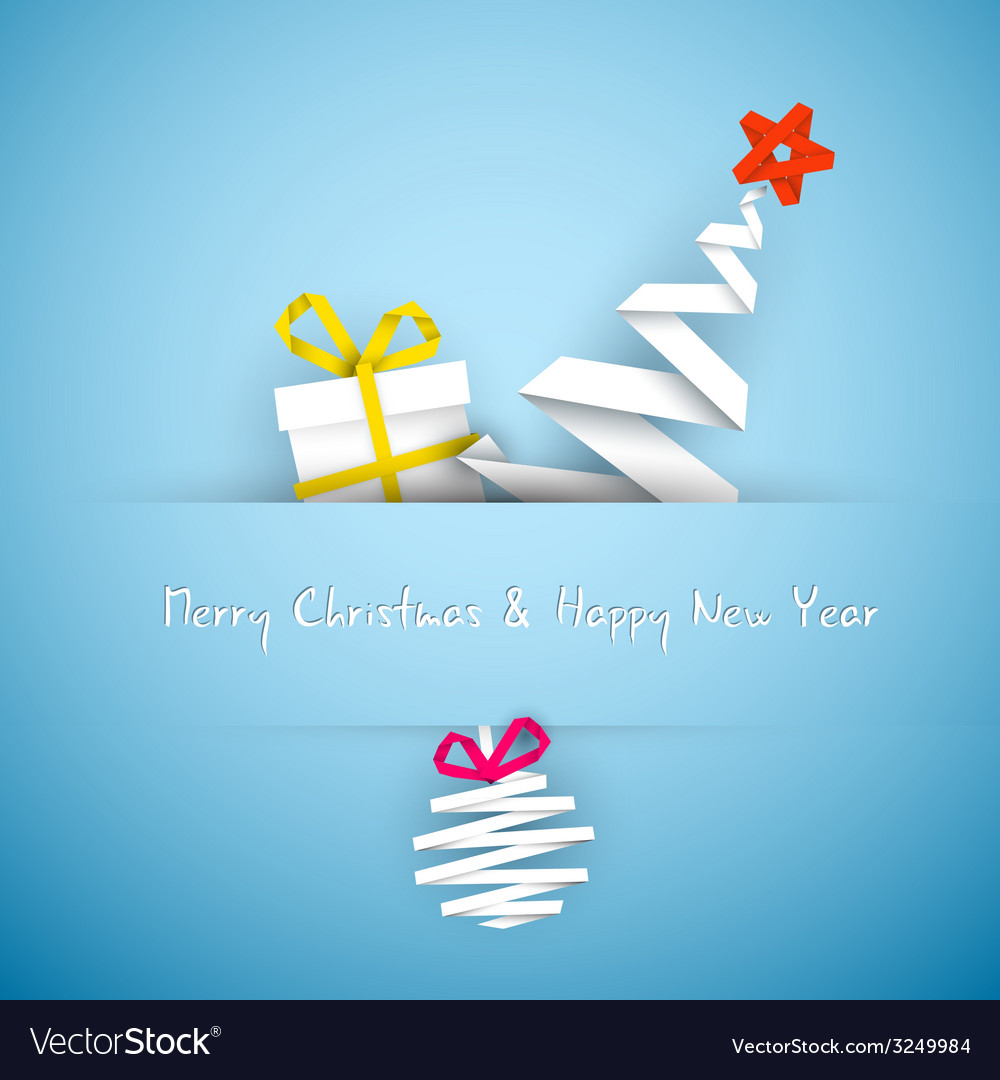 Simple blue christmas card vector | Price: 1 Credit (USD $1)