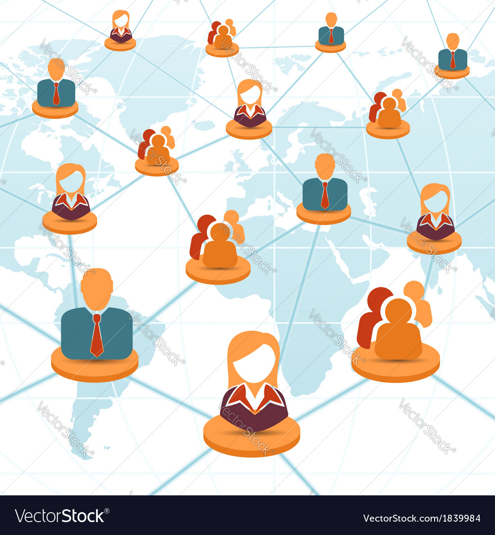 Social network and teamwork concept vector | Price: 1 Credit (USD $1)