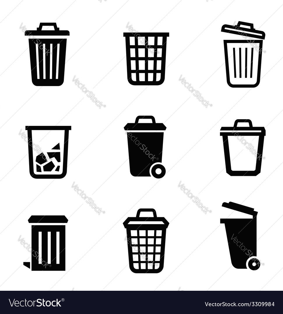 Trash can icon vector   Price: 1 Credit (USD $1)