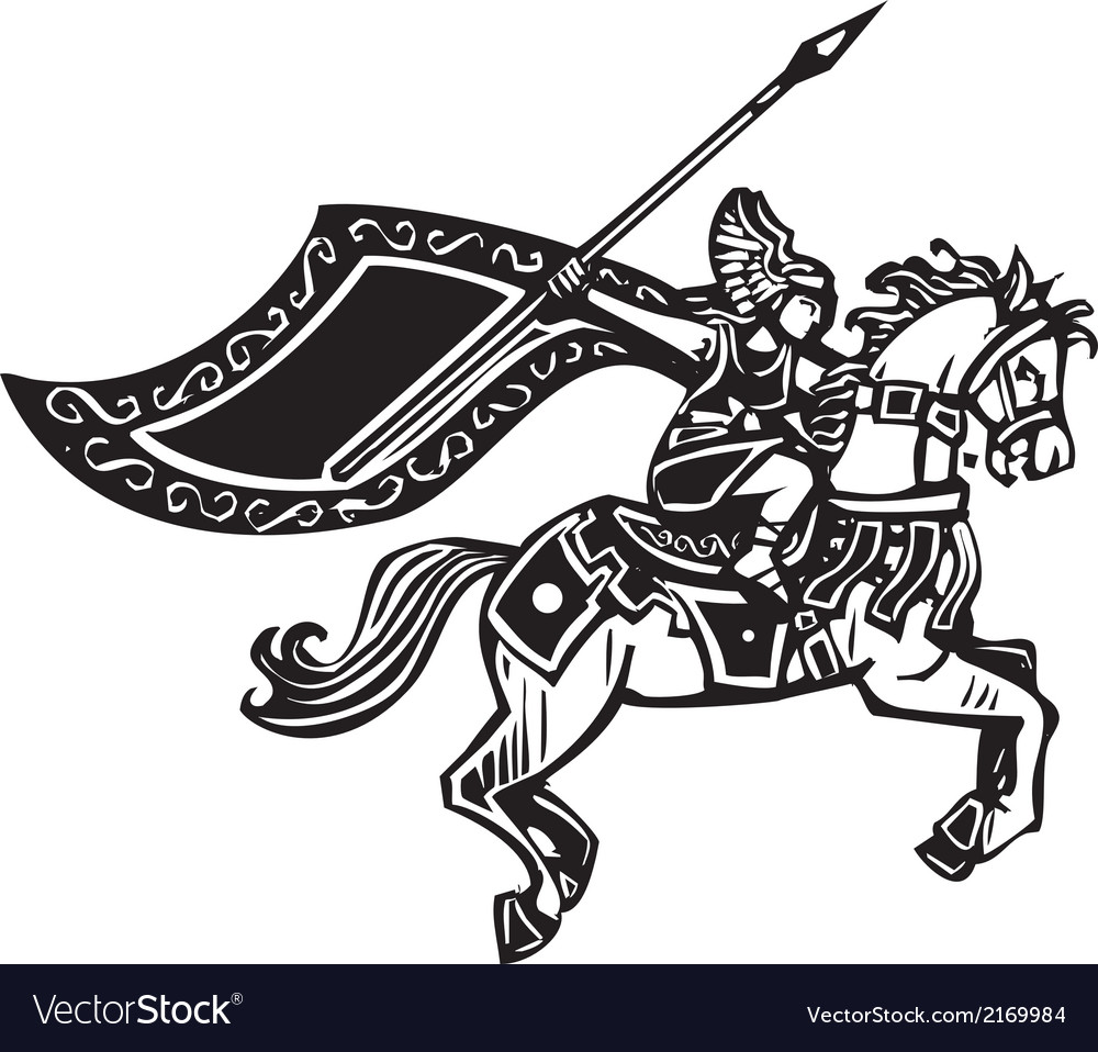 Valkyrie on horse vector | Price: 1 Credit (USD $1)