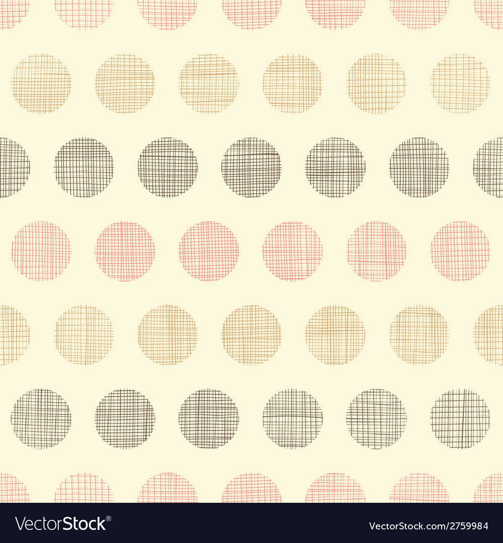 Vintage textile polka dots seamless pattern vector | Price: 1 Credit (USD $1)