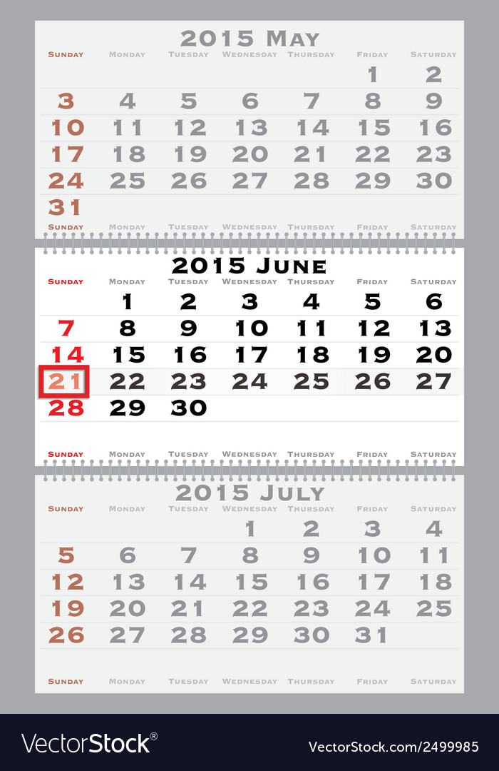 2015 june with red dating mark vector | Price: 1 Credit (USD $1)