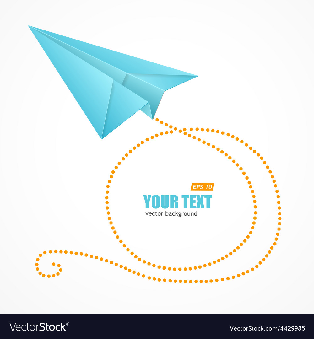 Blue paper plane and text box vector | Price: 1 Credit (USD $1)