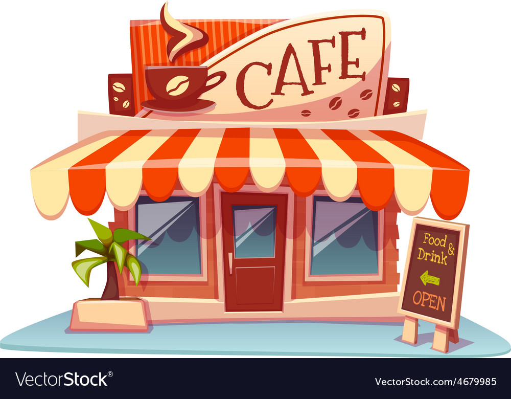 Cafe building with bright vector | Price: 5 Credit (USD $5)