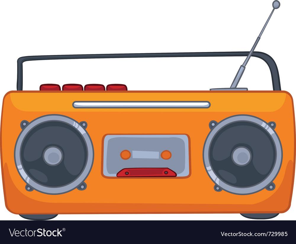 Cartoon appliences recorder vector | Price: 1 Credit (USD $1)