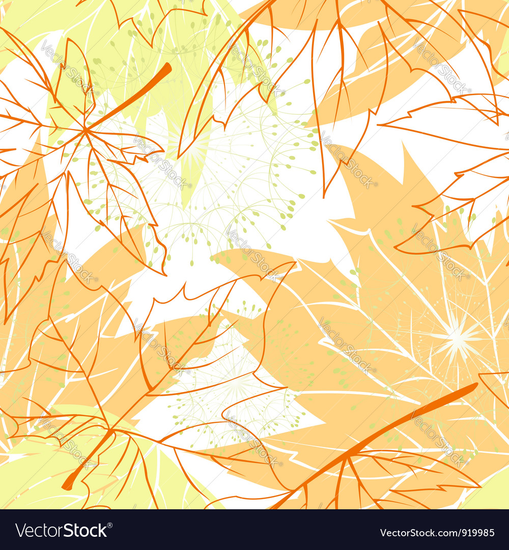 Colorful autumn leaves seamless pattern vector | Price:  Credit (USD $)