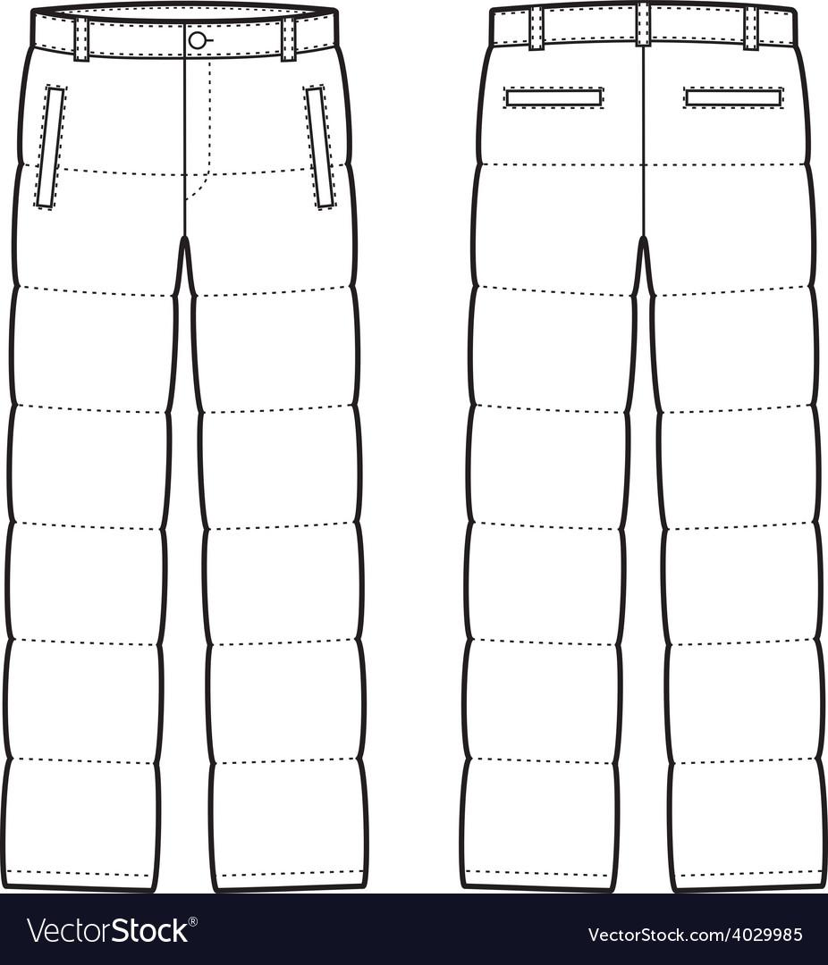 Down pants vector | Price: 1 Credit (USD $1)