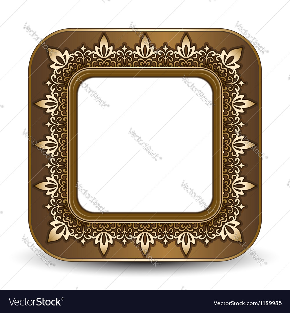 Gold picture frame vector | Price: 1 Credit (USD $1)