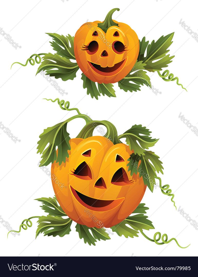 Halloween pumpkins vector | Price: 3 Credit (USD $3)