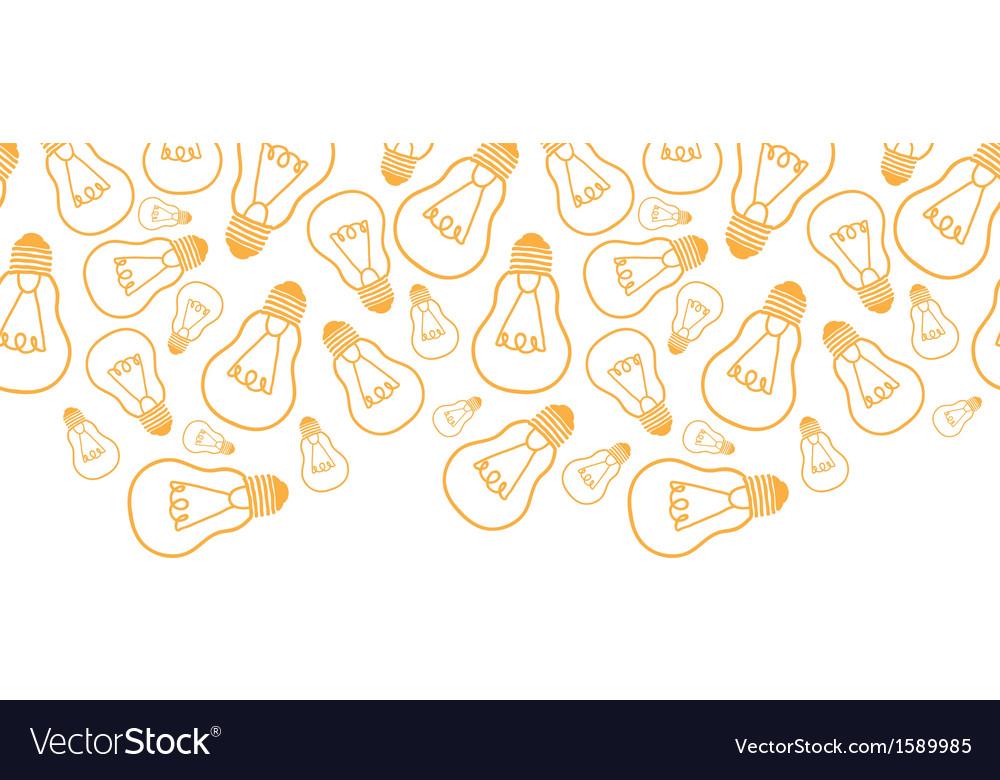 Light bulbs line art horizontal seamless pattern vector | Price: 1 Credit (USD $1)