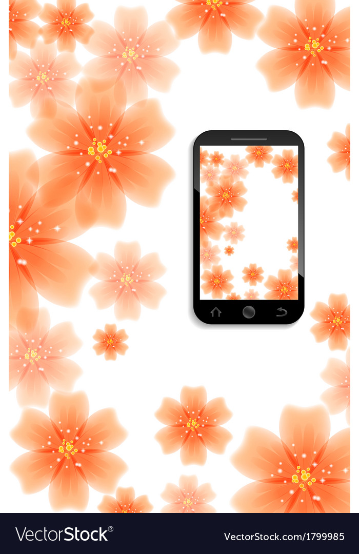 Mobile background vector | Price: 1 Credit (USD $1)