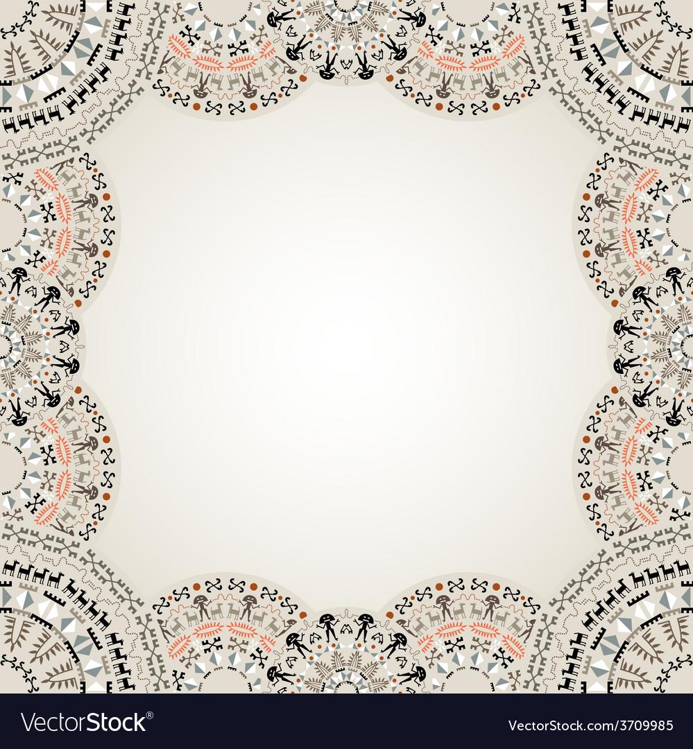 Original art abstract border vector | Price: 1 Credit (USD $1)