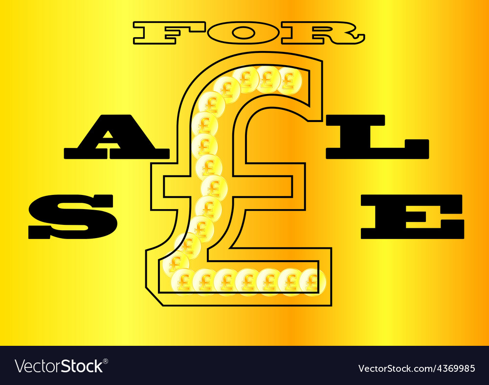 Sale sign uk vector | Price: 1 Credit (USD $1)