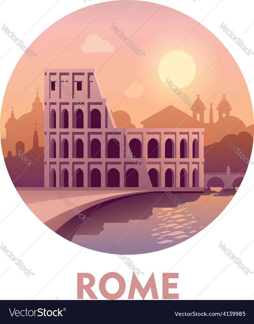 Travel destination rome vector | Price: 3 Credit (USD $3)